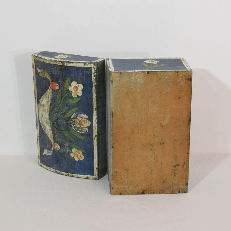 19th Century French Folk Art Wedding Box from Normandy For Sale 4