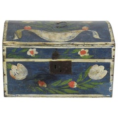 19th Century French Folk Art Wedding Box from Normandy