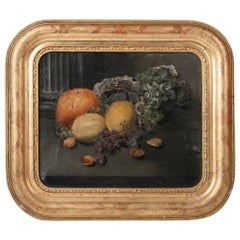 19th Century French Fruit Still Life, Oil Paint on Canvas