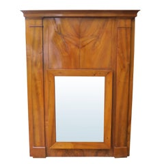 19th Century French Fruitwood Charles X Mirror