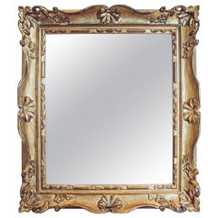 19th Century French Gilded Louis XV Mirror