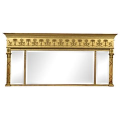 19th Century French Gilded Overmantel Mirror