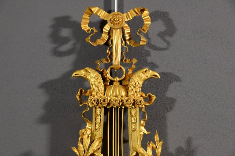 19th century, French Gilt Bronze Cartel Clock For Sale 6