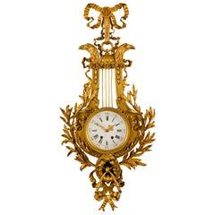 19th century, French Gilt Bronze Cartel Clock