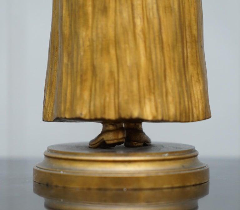 19th Century French Gilt Bronze Dominique Alonzo Statue La Vuelta De Mercado For Sale 11