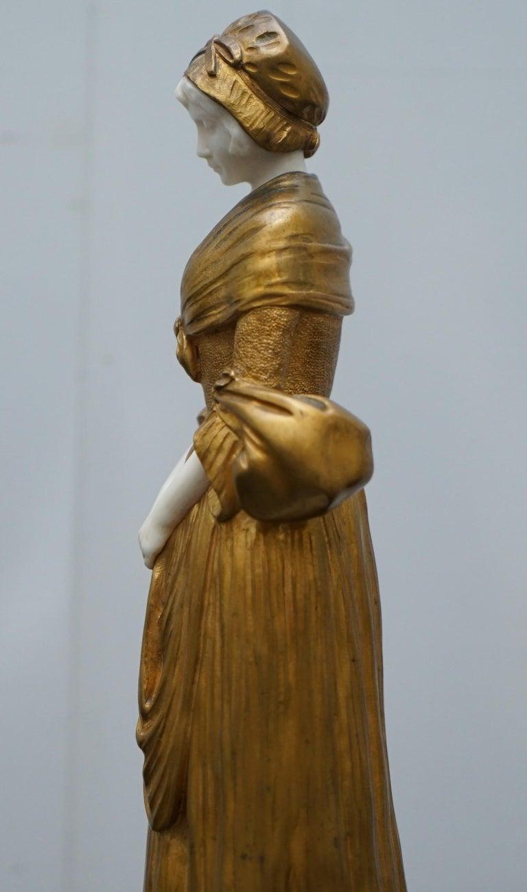 19th Century French Gilt Bronze Dominique Alonzo Statue La Vuelta De Mercado For Sale 13