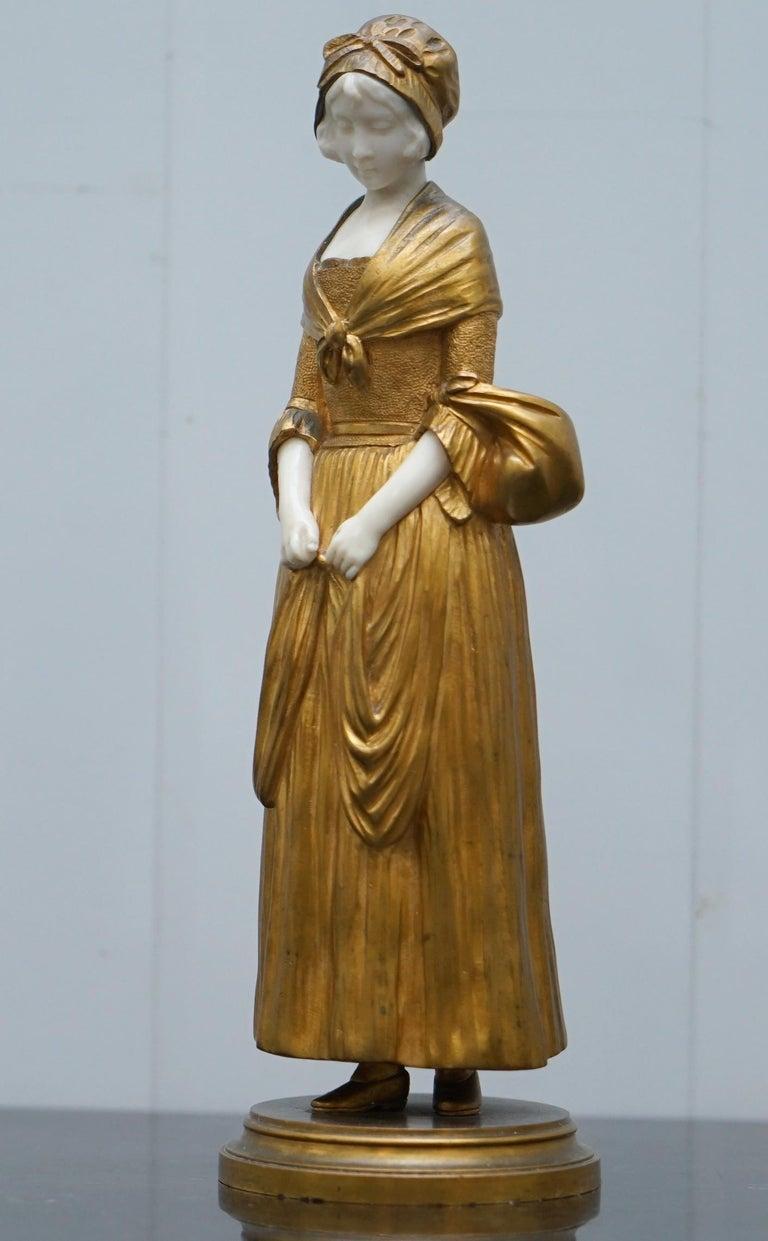 19th Century French Gilt Bronze Dominique Alonzo Statue La Vuelta De Mercado In Good Condition For Sale In , Pulborough