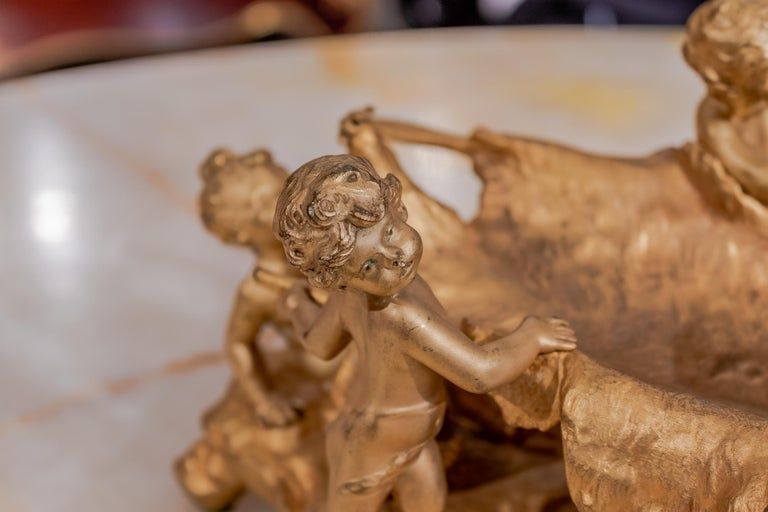 19th Century French Gilt Bronze of Hunting Cherubs with There Kill by Moreau For Sale 1