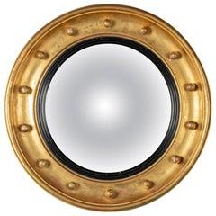 19th Century French Gilt Convex Mirror