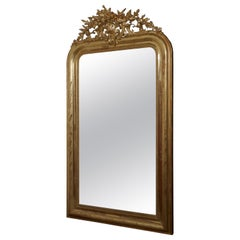 19th Century French Gilt Louis Philippe Wall Mirror