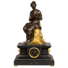 19th Century French Gilt Mantel Clock by L. Charpentier