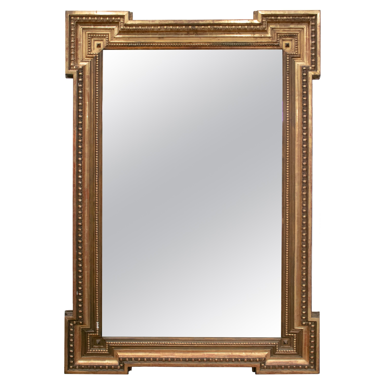 19th Century French Giltwood Rectangular Mirror