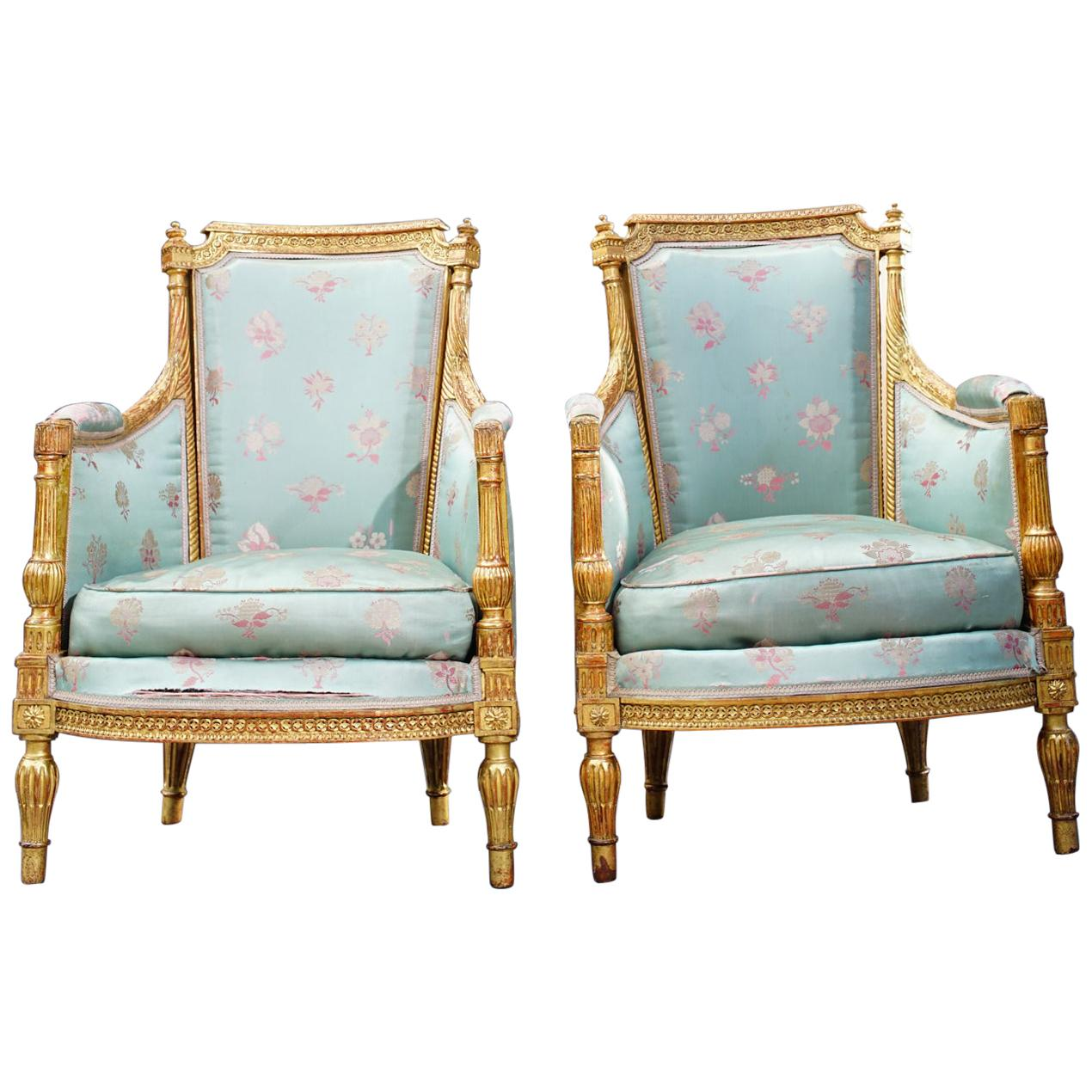 19th Century French Giltwood Armchairs