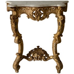 19th Century French Giltwood Console Table