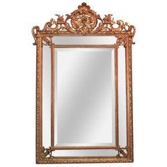 19th Century French Giltwood Cushion Mirror