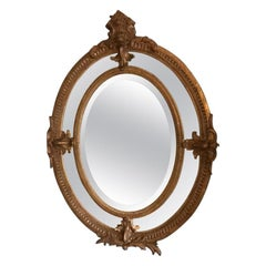 19th Century French Giltwood Framed Mirror, 1890s