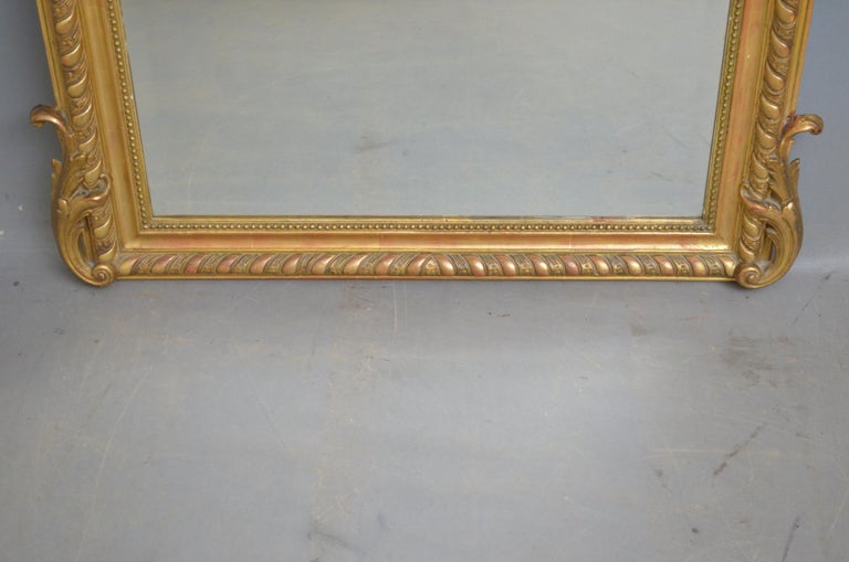 19th Century French Giltwood Mirror For Sale 6