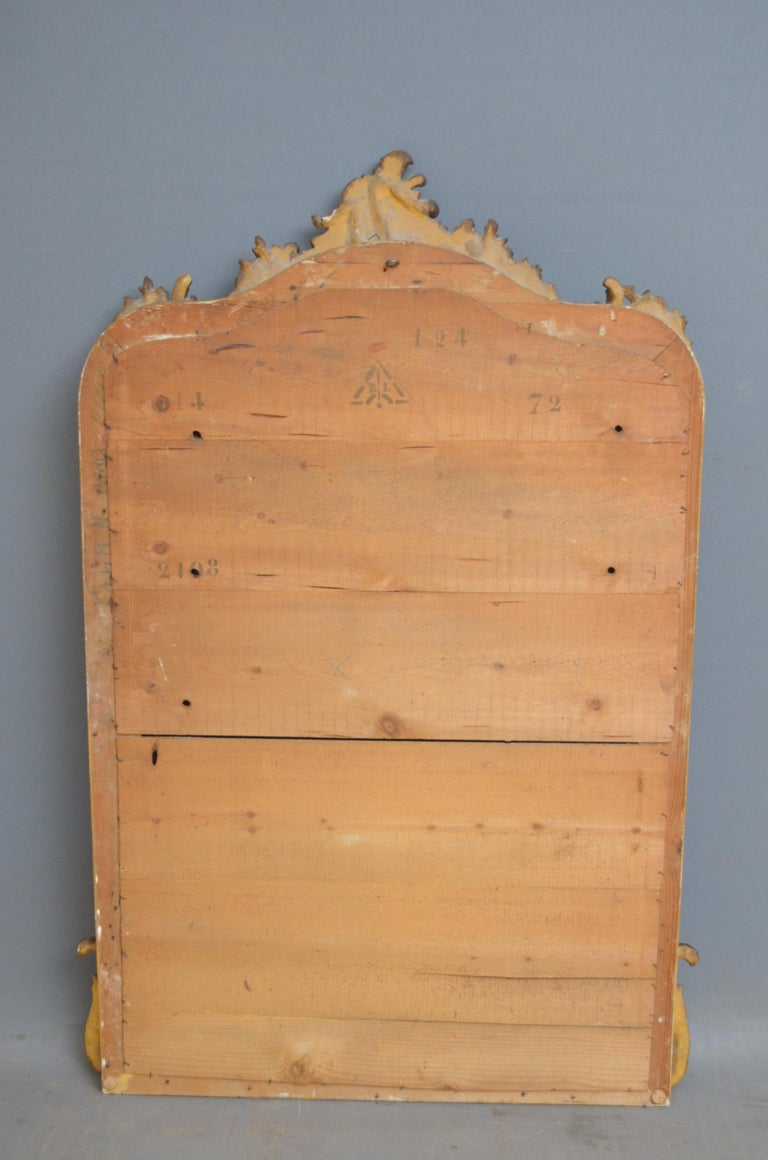 19th Century French Giltwood Mirror For Sale 7