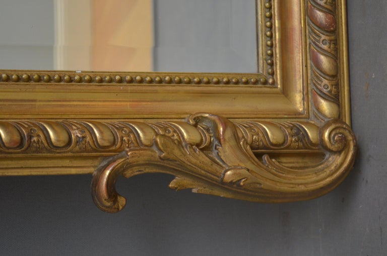 Louis Philippe 19th Century French Giltwood Mirror For Sale