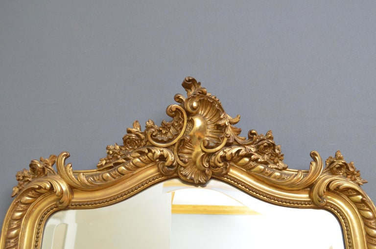 19th Century French Giltwood Mirror For Sale 1