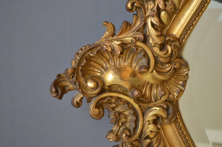 19th Century French Giltwood Mirror For Sale 2