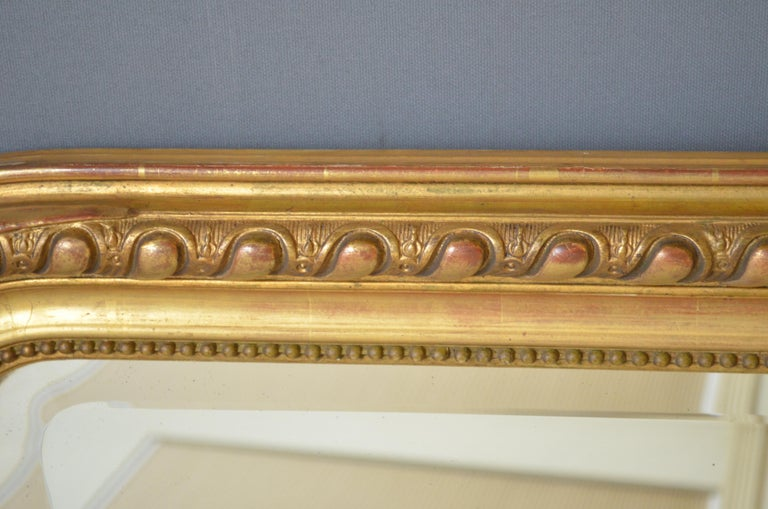 19th Century French Giltwood Mirror For Sale 4
