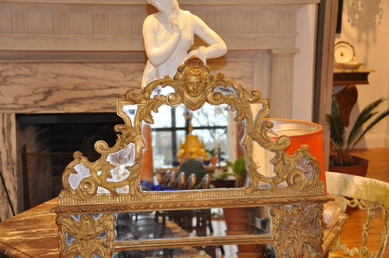 Régence 19th Century French Giltwood Regence Style Mirror For Sale