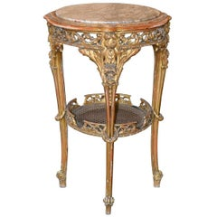 19th Century French Giltwood Side Table