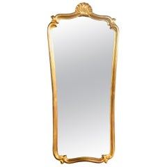 19th Century French Giltwood Wall Mirror in Louis XV Style with Original Glass