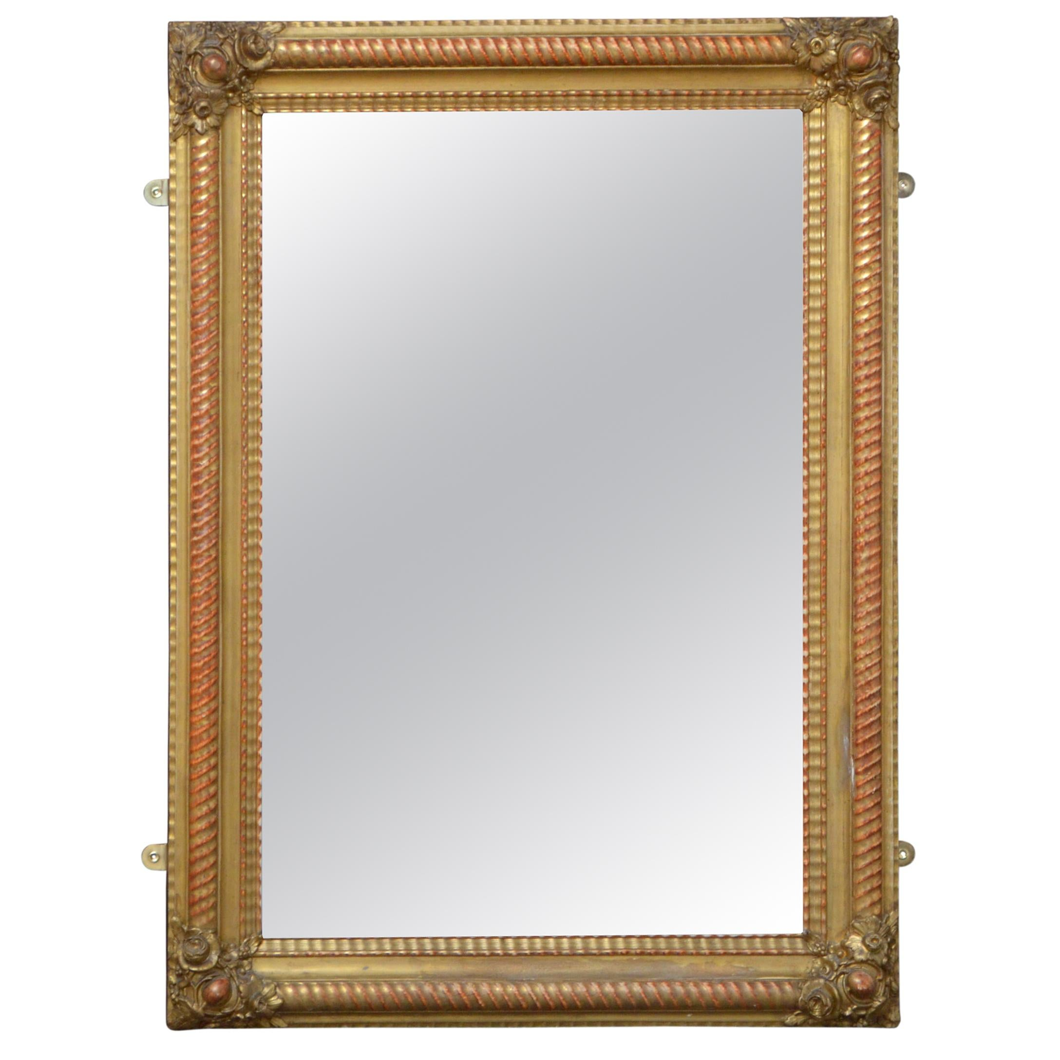 19th Century French Giltwood Wall Mirror Portrait or Landscape