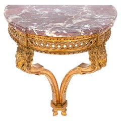 19th Century French Giltwood Wall Mounted Console