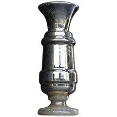 19th Century French Glass Mercury Vase