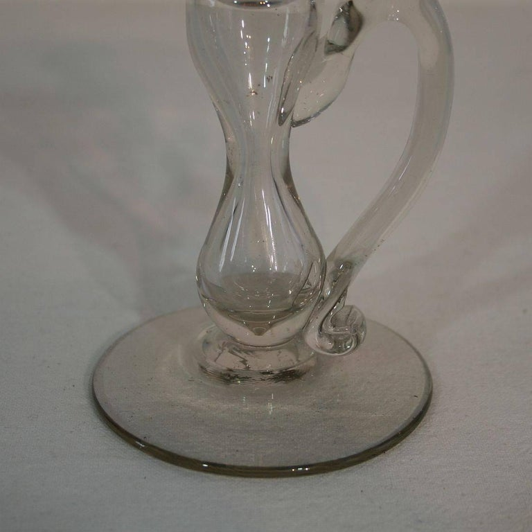 19th Century French Glass Weavers Oil Lamp For Sale 4