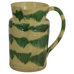 19th Century French Glazed Ceramic Honey Jug