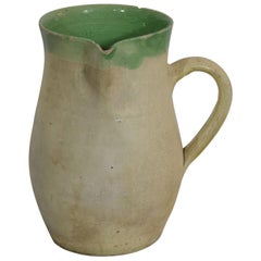 19th Century, French Glazed Earthenware Water Jug