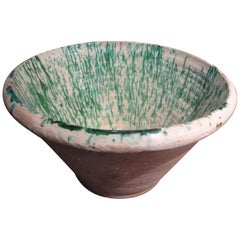 19th Century French Glazed Terracotta Bowl