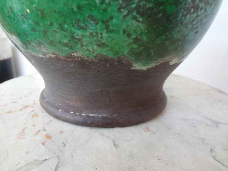 19th Century French Glazed Terracotta Vessel or Pitcher For Sale 1