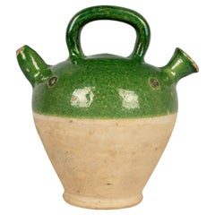 19th Century French Glazed Terracotta Pottery Vinaigrier