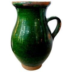 19th Century French Glazed Terracotta Vessel
