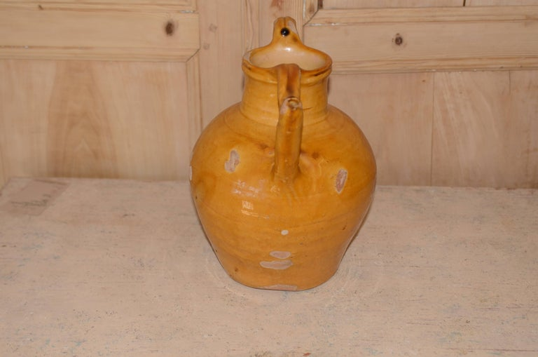 19th Century French Glazed Water Pitcher For Sale 2