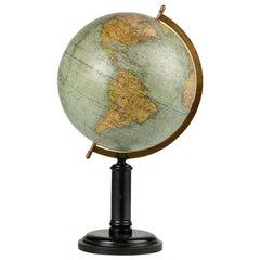 19th Century French Globe on a Walnut Base Signed G. Thomas, Paris