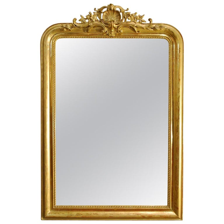 19th Century French Gold Gilt Louis Philippe Mirror With