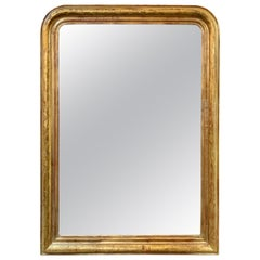 19th Century French Gold Louis Philippe Mirror