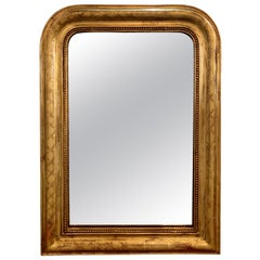 19th Century French Gold Louis Philippe Mirror with X-Pattern