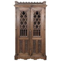 19th Century French Gothic Bookcase, Vitrine