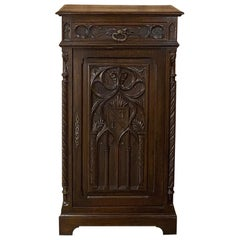 19th Century French Gothic Cabinet, Bonnetiere