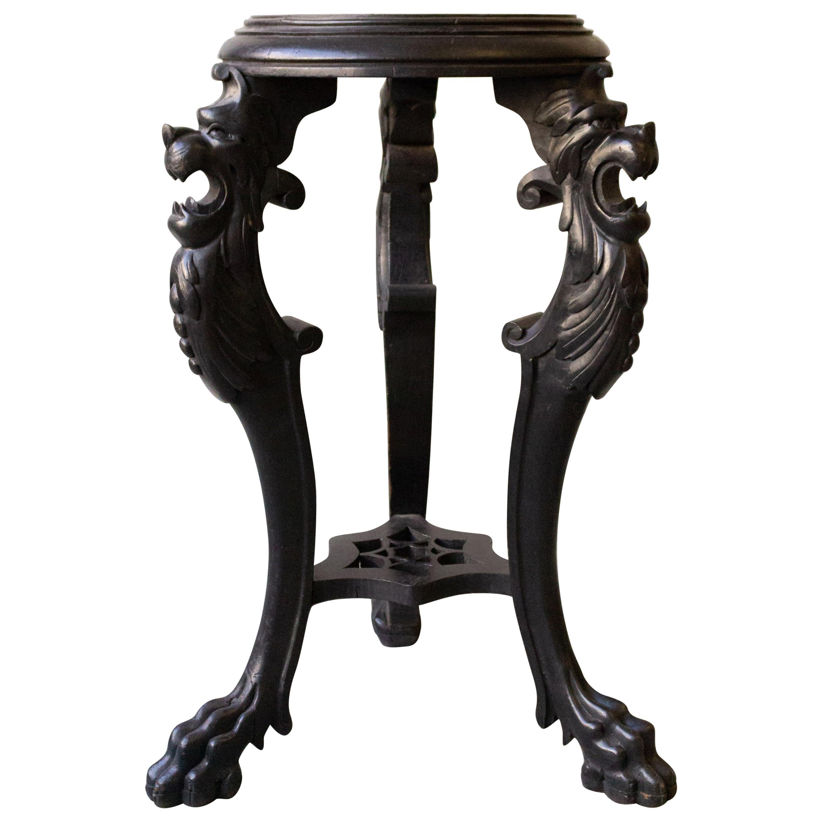 19th Century French Gothic End Table