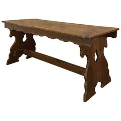19th Century French Gothic Farm Table, Sofa Table