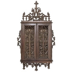 19th Century French Gothic Reliquary Cabinet