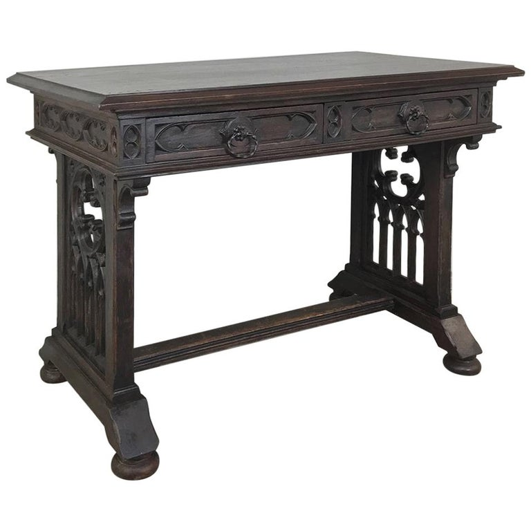 Phenomenal 19Th Century French Gothic Writing Table Gmtry Best Dining Table And Chair Ideas Images Gmtryco